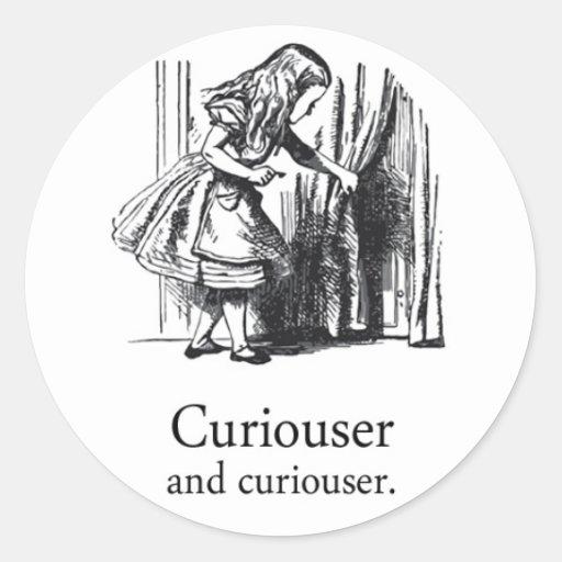 Alice In Wonderland Curiouser Round Sticker Set