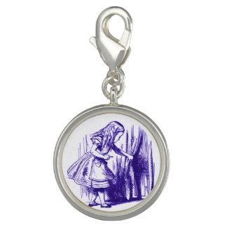 Alice in Wonderland Curtain Purple Charm Charm Bracelet