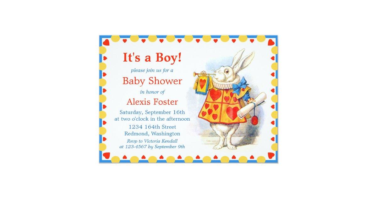 alice in wonderland custom baby shower invites zazzle