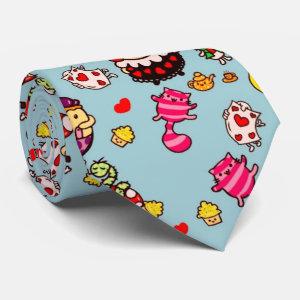 Alice in Wonderland cute pattern kawaii doodle Tie