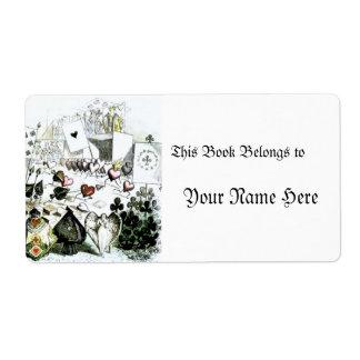 Alice in Wonderland Deck of Cards Label