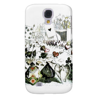 Alice in Wonderland Deck of Cards Samsung S4 Case