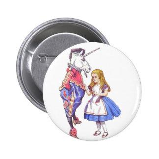 alice in wonderland design button / badge