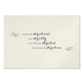Alice in Wonderland Directions insert Card