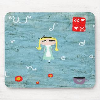 Alice in Wonderland distressed tea cup mousepad