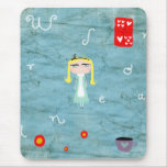 Alice in Wonderland distressed tea cup mousepad