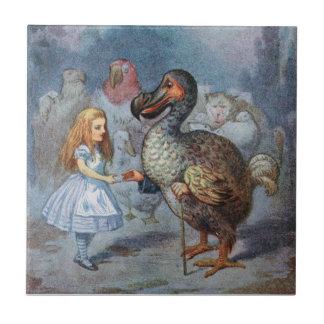Alice in Wonderland Dodo Art Tile or Trivet