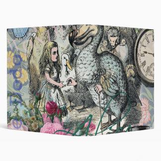 Alice in Wonderland Dodo  Vintage Pretty Collage Vinyl Binder