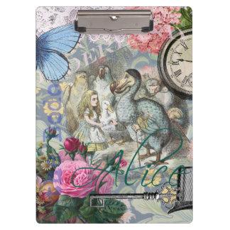 Alice in Wonderland Dodo  Vintage Pretty Collage Clipboard
