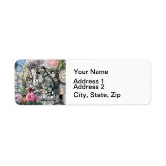 Alice in Wonderland Dodo  Vintage Pretty Collage Label