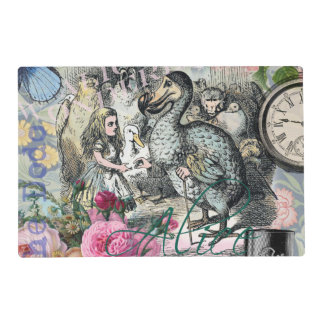 Alice in Wonderland Dodo  Vintage Pretty Collage Placemat