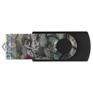 Alice in Wonderland Dodo  Vintage Pretty Collage USB Flash Drive