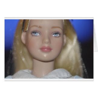 Alice in Wonderland doll Card