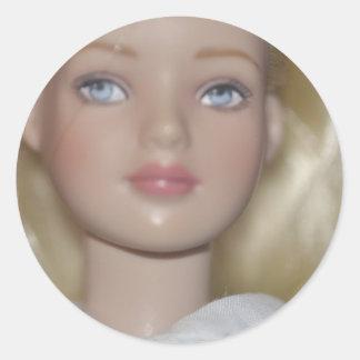 Alice in Wonderland doll Classic Round Sticker