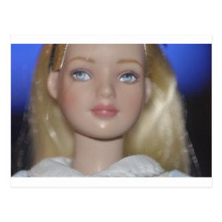 Alice in Wonderland doll Postcard