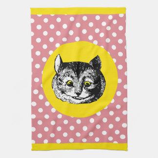 Alice in Wonderland Dotty Cheshire Cat Tea Towel