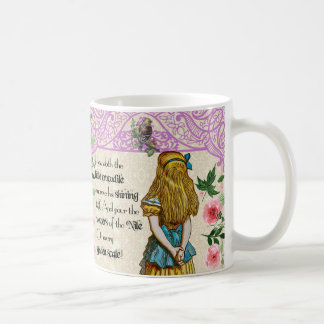 Alice in wonderland double quote mug, vintage coffee mug