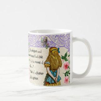 Alice In Wonderland Double Quote Mug, vintage Coffee Mug