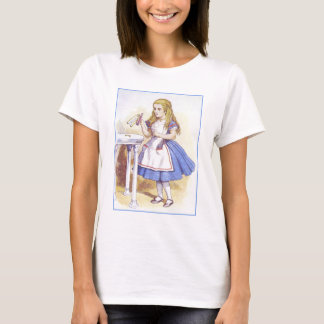 Alice in Wonderland - Drink Me - by Tenniel T-Shirt