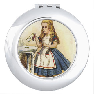 Alice in wonderland drink me compact compact mirror