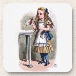 Alice in Wonderland Drink Me Cork Coaster Set