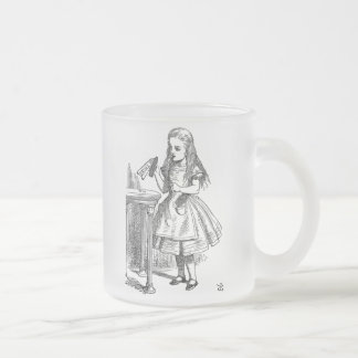 Alice in Wonderland Drink Me frosted coffee mug