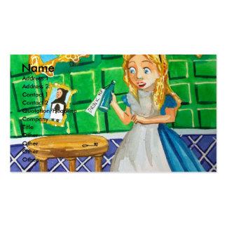 Alice in wonderland, drink me. Mad hatter Business Card