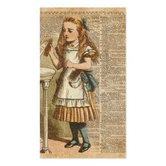 Alice In Wonderland Drink Me Vintage Book Page Art Business Card
