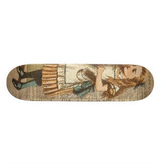 Alice In Wonderland Drink Me Vintage Book Page Art Skateboard Deck