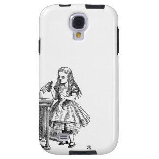 Alice in Wonderland Drink Me vintage goth print Galaxy S4 Case