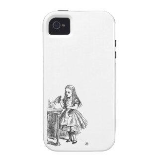 Alice in Wonderland Drink Me vintage sketch girly Vibe iPhone 4 Case