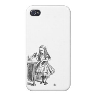 Alice in Wonderland Drink Me vintage sketch girly iPhone 4 Covers