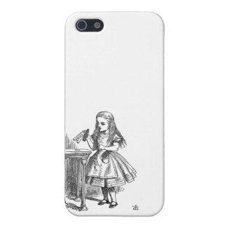 Alice in Wonderland Drink Me vintage sketch girly iPhone SE/5/5s Case