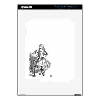 Alice in Wonderland Drink Me vintage sketch girly iPad 3 Skins