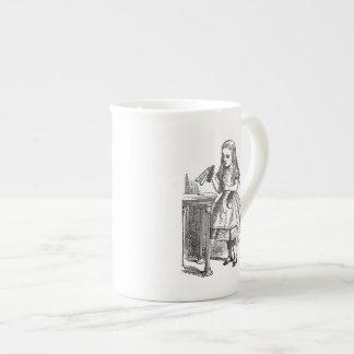 Alice in Wonderland Drink Me vintage sketch Tea Cup