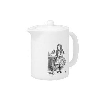 Alice in Wonderland Drink Me vintage sketch teapot