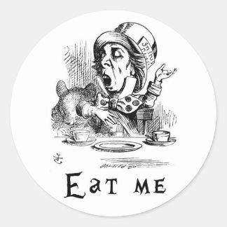 Alice in Wonderland - Eat me Classic Round Sticker