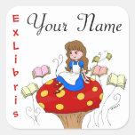 Alice in Wonderland Ex Libris book label Stickers