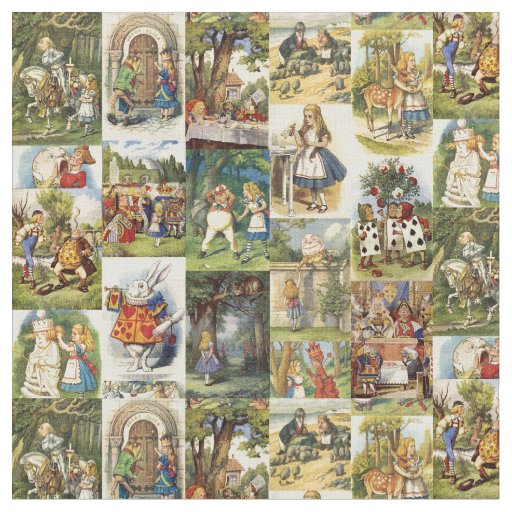 Alice In Wonderland Fabric Zazzle Com