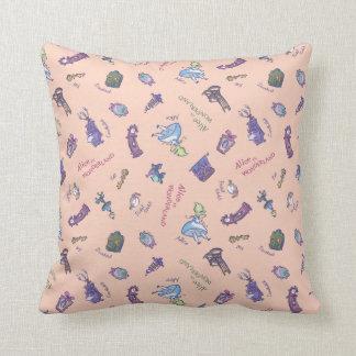 Alice In Wonderland | Falling Down Pattern Throw Pillow