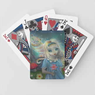 Alice in Wonderland Fantasy Art Bicycle Playing Cards