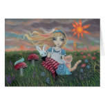 Alice in Wonderland Fantasy Art Card