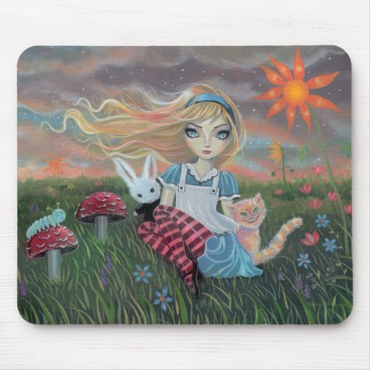 Alice in Wonderland Fantasy Art Mousepad