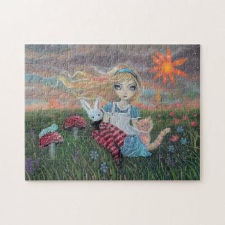 Alice in Wonderland Fantasy Fairytale Art Puzzle