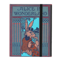 Alice In Wonderland Featuring 'The Rabbit' iPad Folio Case