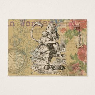 Alice in Wonderland Flamingo Business Card
