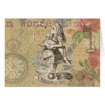 Alice in Wonderland Flamingo Card