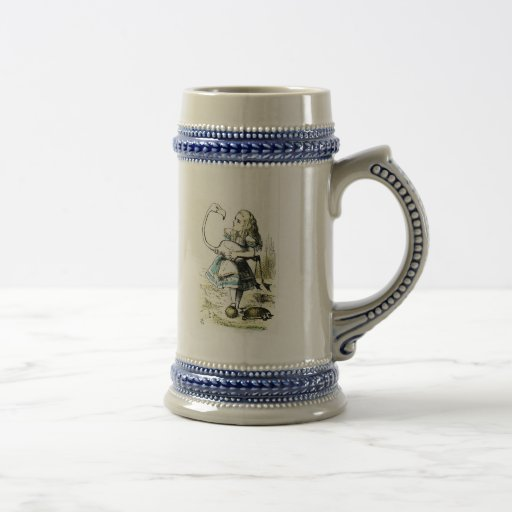 Alice in Wonderland: Flamingo Coffee Mugs
