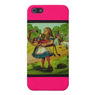 Alice in Wonderland Flamingo Croquet iPhone 5 Case