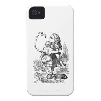 Alice in Wonderland flamingo croquet vintage print Case-Mate iPhone 4 Case